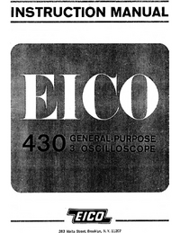 Service and User Manual Eico 430