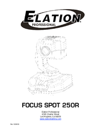 User Manual Elation Focus Spot 250R
