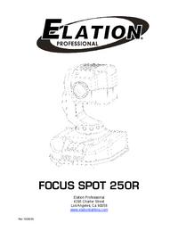 Instrukcja obsługi Elation Focus Spot 250R