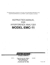 User Manual ElectroMetrics EMC-11