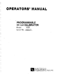 Serwis i User Manual ElectronicDevelopmentCorporation 521