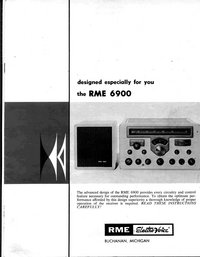 Service and User Manual ElektroVoice RME 6900