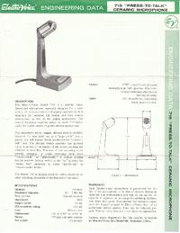 Service- und Bedienungsanleitung ElektroVoice 719