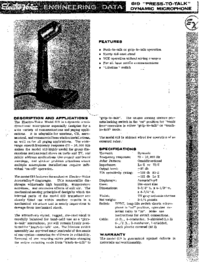 User Manual ElektroVoice 619