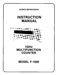 Servicio y Manual del usuario Elenco F-1000