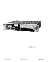 Service- und Bedienungsanleitung Elgar 121B