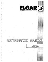Serviço e Manual do Usuário Elgar 501 Series