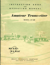 Service and User Manual Elmac AF-68
