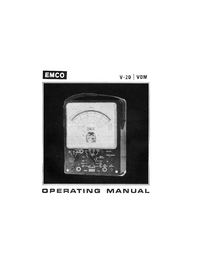 User Manual with schematics Emco V-20