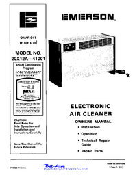Service and User Manual Emerson 20X12A--41001
