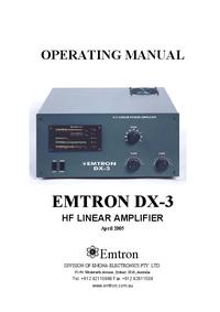 User Manual with schematics Emtron DX-3