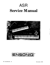 Service Manual Ensoniq ASR-88