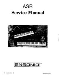 Serviceanleitung Ensoniq ASR-88