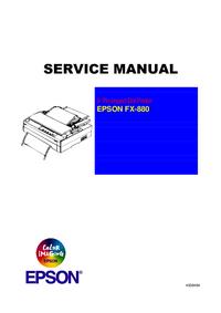 Manual de serviço Epson FX-880