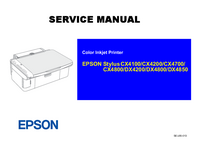 Manual de servicio Epson Stylus DX4850