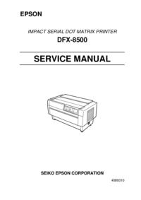manuel de réparation Epson DFX-8500