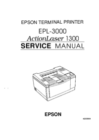 Manual de servicio Epson ActionLaser 1300