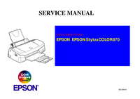 Service Manual Epson Stylus COLOR 670