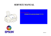 Manual de servicio Epson STYLUS COLOR 777