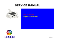 Manual de servicio Epson Stylus COLOR 880