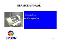 Servicehandboek Epson Stylus C 60