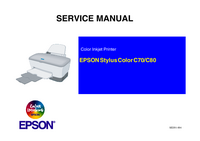 Service Manual Epson Stylus Color C70