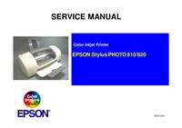 manuel de réparation Epson Stylus PHOTO 810