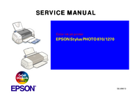 Servicehandboek Epson Stylus PHOTO 870/1270