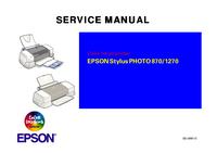 Manuale di servizio Epson Stylus PHOTO 870/1270