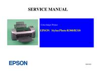 manuel de réparation Epson Stylus Photo R310