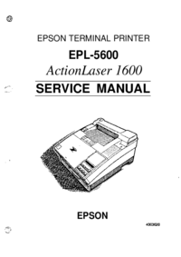 Manual de servicio Epson ActionLaser 1600