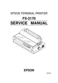 Manual de servicio Epson FX-2170