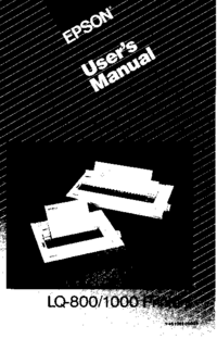 User Manual Epson LQ-1000