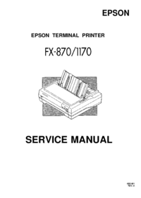 manuel de réparation Epson FX-1170