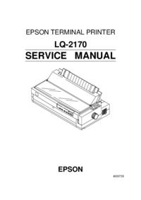 Servicehandboek Epson LQ-2170