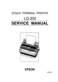 Service Manual Epson LQ-300
