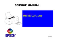 Service Manual Epson Stylus Photo 750