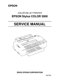 Manual de servicio Epson Stylus COLOR 3000