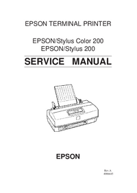 Service Manual Epson Stylus 200