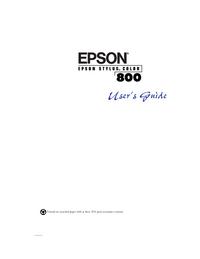 Gebruikershandleiding Epson Stylus Color 800