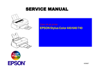 Service Manual Epson Stylus Color 740