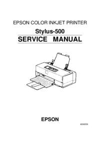 Service Manual Supplement Epson Stylus 500