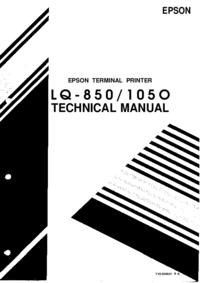 Service Manual Epson LQ-1050