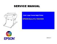 Manual de serviço Epson Stylus Pro 7600