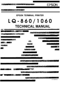 Руководство по техническому обслуживанию Epson LQ-860