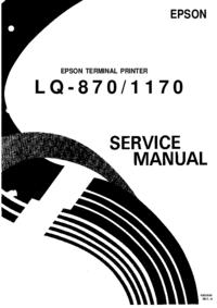 Руководство по техническому обслуживанию Epson LQ-870