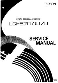 manuel de réparation Epson LQ-570