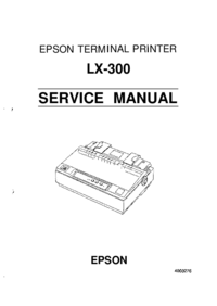 Руководство по техническому обслуживанию Epson LX-300