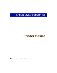 User Manual Epson Stylus COLOR 1160