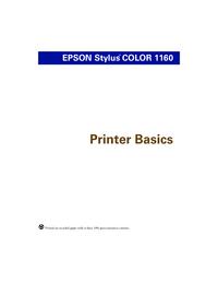 Bedienungsanleitung Epson Stylus COLOR 1160